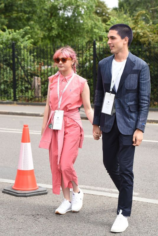 MAISIE WILLIAMS and Reuben Selby Arrives at 2019 Wimbledon Tennis Championships 07/08/2019
