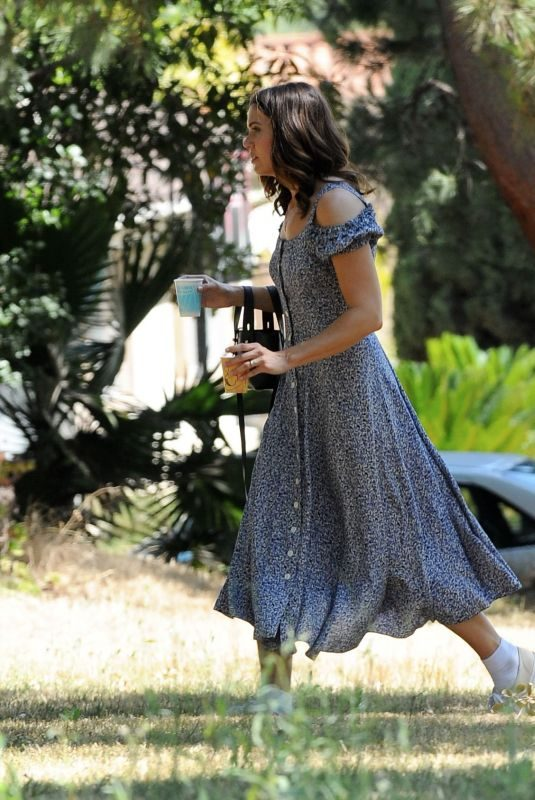 MANDY MOORE on the Set of This Is Us in Los Angeles 07/24/2019