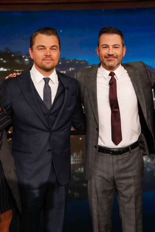 MARGOT ROBBIE, Leonardo DiCaprio and Brad Pitt at Jimmy Kimmel Live, 07/22/2019