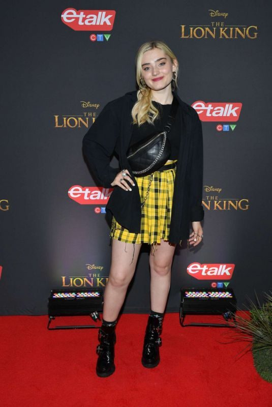 MEG DONNELLY at The Lion King Premiere in Toronto 07/17/2019