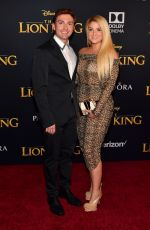 MEGHAN TRAINOR at The Lion King Premiere in Hollywood 07/09/2019