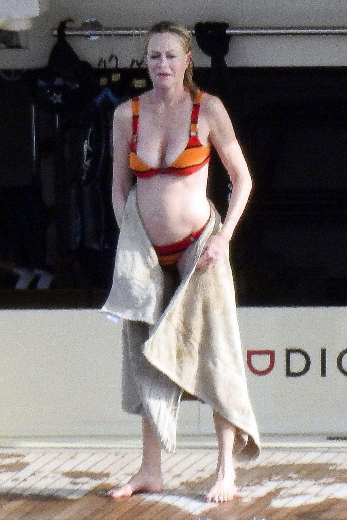 Melanie Griffith In Bikini At A Boat In Ibiza 07 05 2019