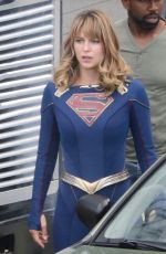 MELISSA BENOIST on the Set of Supergirl in Vancouver 07/16/2019