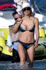 MICHELLE HUNZIKER in Bikini on the Beach in Milano Marittimo 07/02/2019