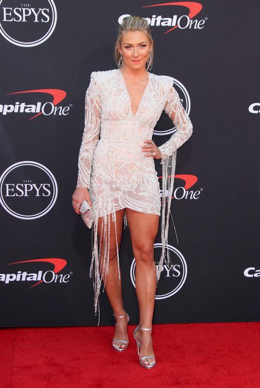 MIKAELA SHIFFRIN at 2019 ESPY Awards in Los Angeles 07/10/2019