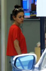 MILA KUNIS Leaves a Nails Salon in Los Angeles 07/10/2019