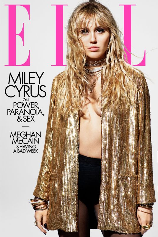 MILEY CYRUS for Elle Magazine, August 2019