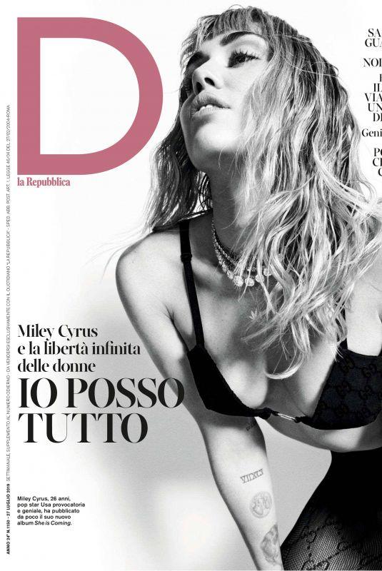 MILEY CYRUS in D La Repubblica, July 2019