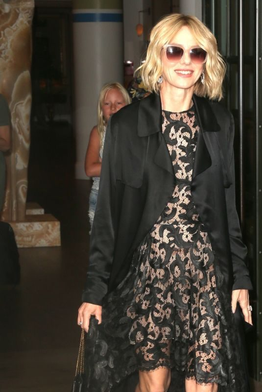 NAOMI WATTS Leaves Her Hotel in New York 07/24/2019