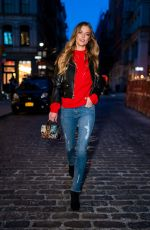 NINA AGDAL Night Out in New York 03/07/2019