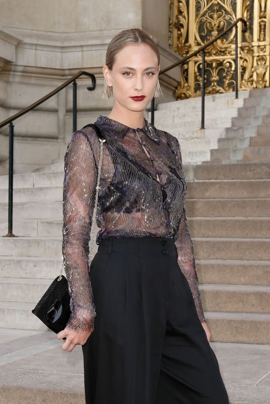 NORA ARNEZEDER at Giorgio Armani Prive Haute Couture Fall/Winter 2019/2020 Show in Paris 07/02/2019