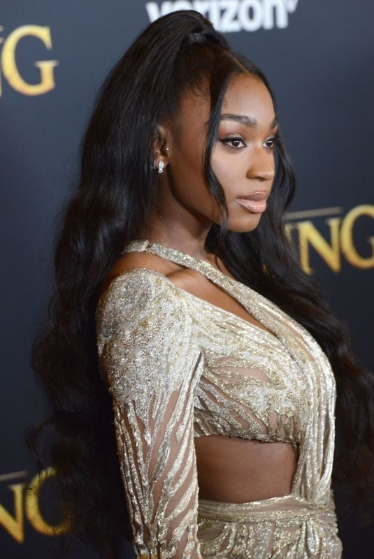 NORMANI KORDEI at The Lion King Premiere in Hollywood 07/09/2019