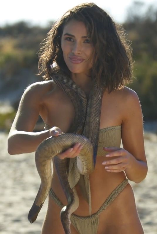 OLIVIA CULPO Poses with a Snake for SI Swimsuit 2019 Outtakes