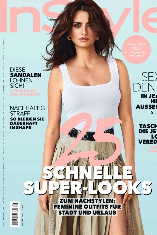 PENELOPE CRUZ in Instyle Magazine, Germany August 2019