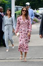 PIPPA MIDDLETON Arrives at 2019 Wimbledon Tennis Championship in London 07/14/2019