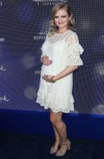 Pregnant ANDREA BROOKS at Hallmark Movies & Mysteries 2019 Summer TCA Press Tour in Beverly Hills 07/26/2019