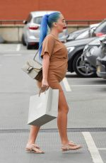 Pregnant HELEN BRIGGS and Chet Johnson Out in Manchester 07/10/2019