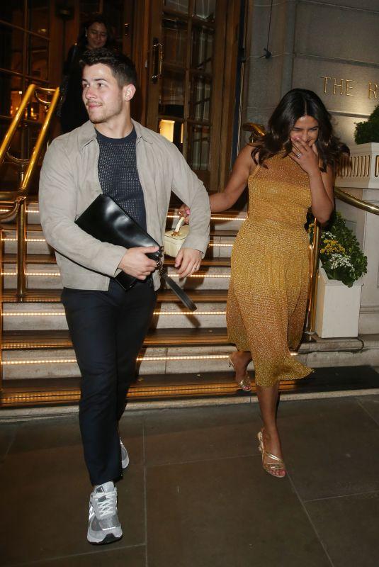 PRIYANKA CHOPRA and Nick Jonas Leaves Ritz Hotel in London 07/07/2019
