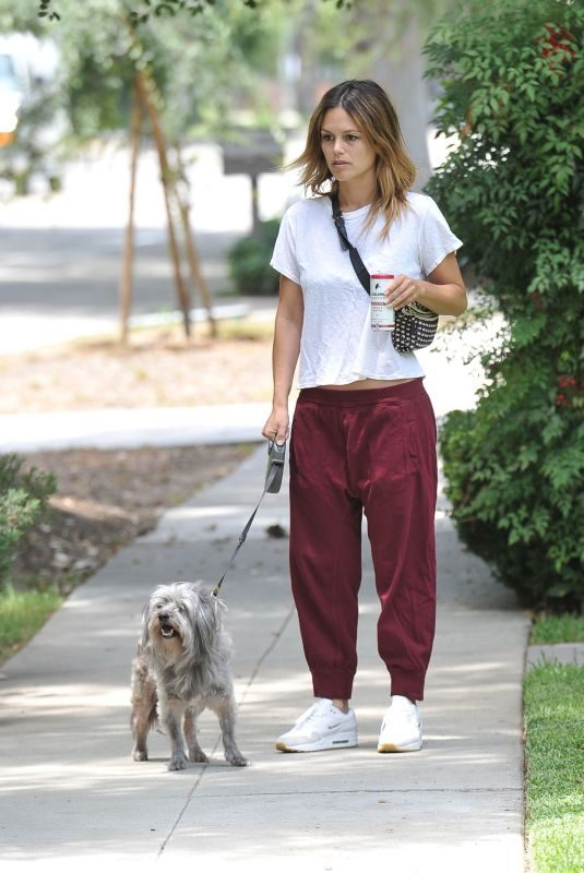 RACHEL BILSON Out with Her Dog in Los Angeles 07/08/2019