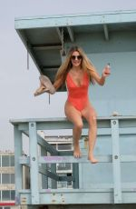 RACHEL MCCORD in Swimsuit at a Beach in Venice Beach 07/17/2019