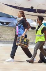 RIHANNA Arrives at Airport in Bridgetown 07/04/2019