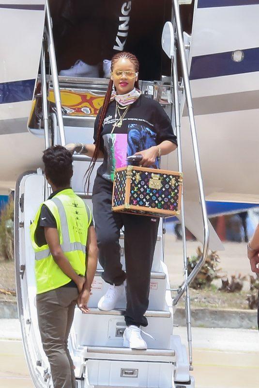 RIHANNA Arrives at Airport in Bridgetown 07/04/2019
