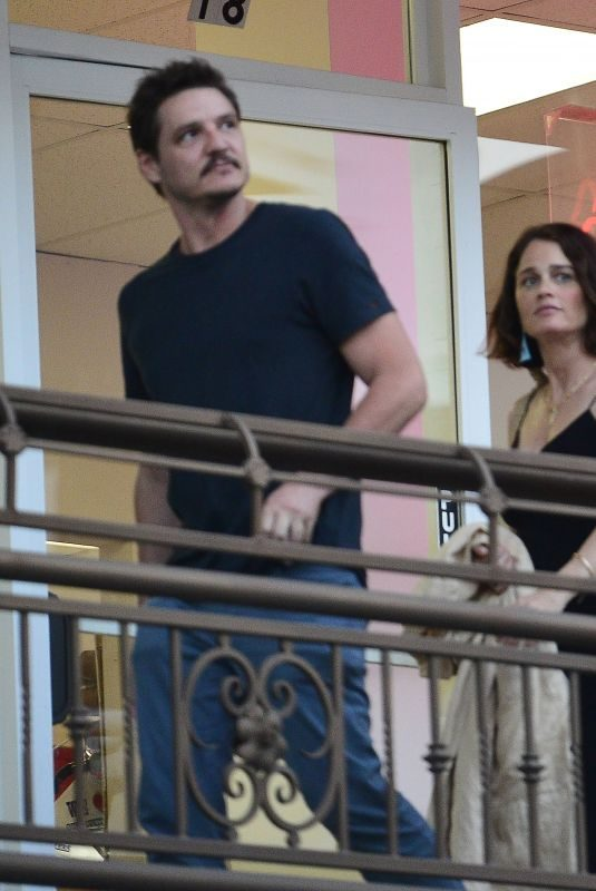 ROBIN TUNNEY and Pedro Pascal Out for Dinner in Los Angeles 07/16/2019