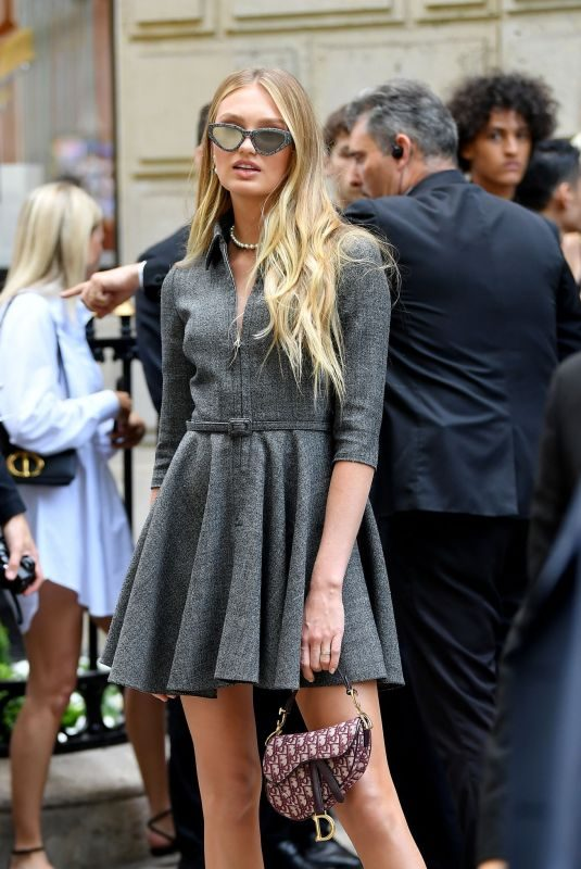 ROMEE STRIJD Arrives at Christian Dior Fashion Show in Paris 07/01/2019