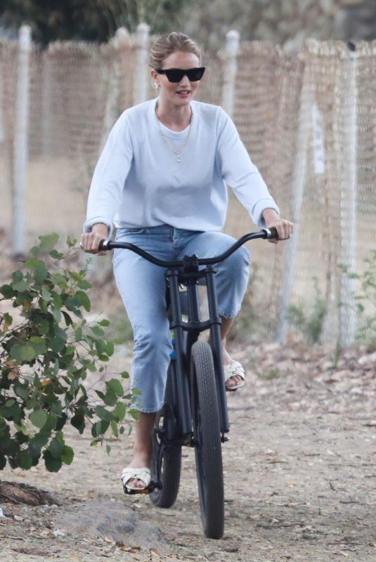 ROSIE HUNTINGTON-WHITELEY at a Park in Malibu 07/07/2019
