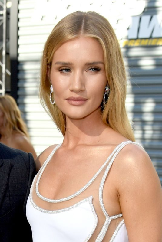 ROSIE HUNTINGTON-WHITELEY at Hobbs & Shaw Premiere in Hollywood 07/13/2019