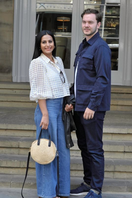 SAIR KHAN and Simon Lennon at Peter St Kitchen in Manchester 07/15/2019