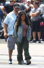 SALMA HAYEK on the Set of Bliss in Los Angeles 07/05/2019