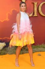 SAM FAIERS at The Lion King Premiere in London 07/14/2019