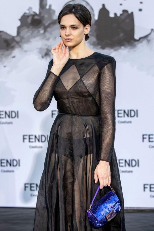 SARA SERRAIOCCO at Fendi Fashion Show in Rome 07/04/2019
