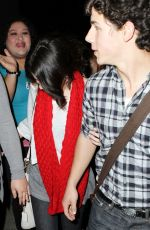 SELENA GOMEZ and Nick Jonas Leaves Philippe Chow Restaurant in West Hollywood 02/03/2010