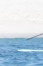 SELENA GOMEZ in Swimsuit Paddleboarding in Punta Mita 07/01/2019