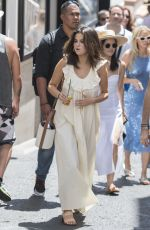 SELENA GOMEZ Out and About in Capri 07/23/2019