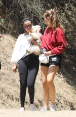 SELENA GOMEZ Out Hiking with Her Dog in Los Angeles 07/06/2019