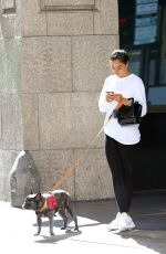 SHANINA SHAIK Out with Her Dog in Los Angeles 07/18/2019