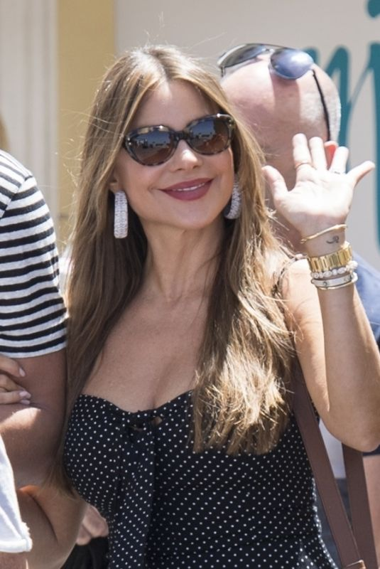 SOFIA VERGARA Out for Lunch on Vacationing in Capri 07/11/2019