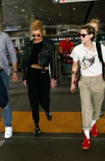 STELLA MAXWELL and KRISTEN STEWART at LAX Airport in Los Angeles 07/20/2019
