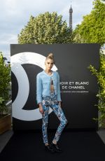 STELLA MAXWELL at Noir et Blanc de Chanel Fall/Winter 2019 Makeup Collection Launch at Yachts de Paris 07/11/2019