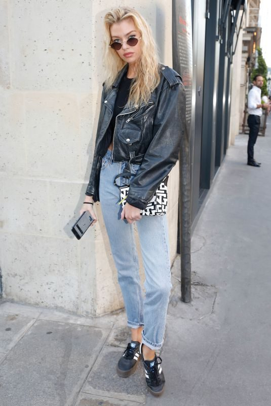STELLA MAXWELL in Denim Out and About in Paris 07/01/2019