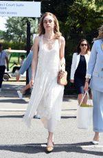 SUKI WATERHOUSE Arrives at Wimbledon Tennis Championships in London 07/11/2019