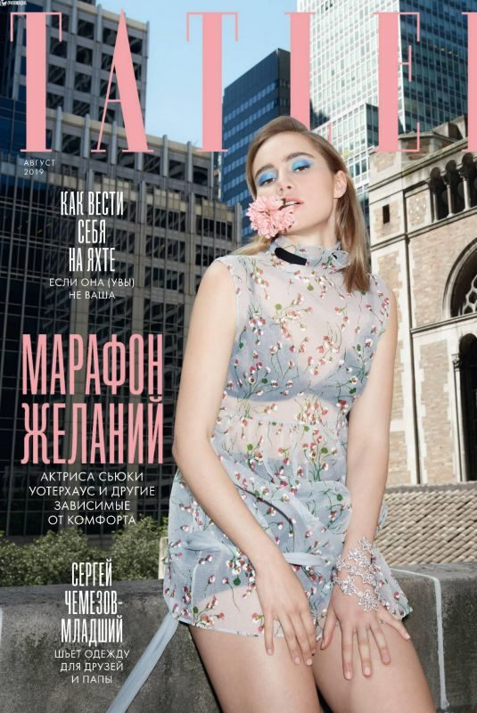 SUKI WATERHOUSE in Tatler Magazine, Russia August 2019