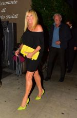 SUZANNE SOMERS Leaves a Restaurant in Santa Monica 07/13/2019