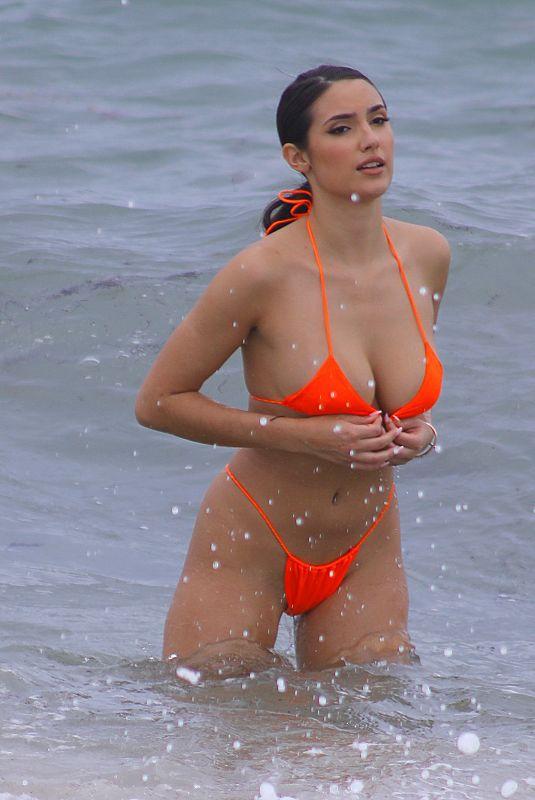 TAO WICKRATH in Oh Polly Bikini at a Beach in Miami 07/15/2019