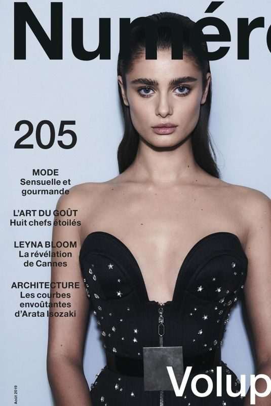TAYLOR HILL on the Cover of Numero Magazine, August 2019
