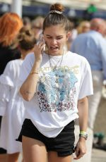 THYLANE BLONDEAU Out and About shorts in Saint Tropez 07/15/2019
