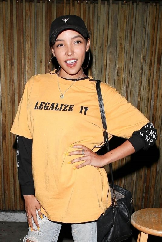 TINASHE Night Out in Los Angeles 07/11/2019